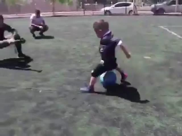 This Little Boy Is Better At Football Than Many Adult Players