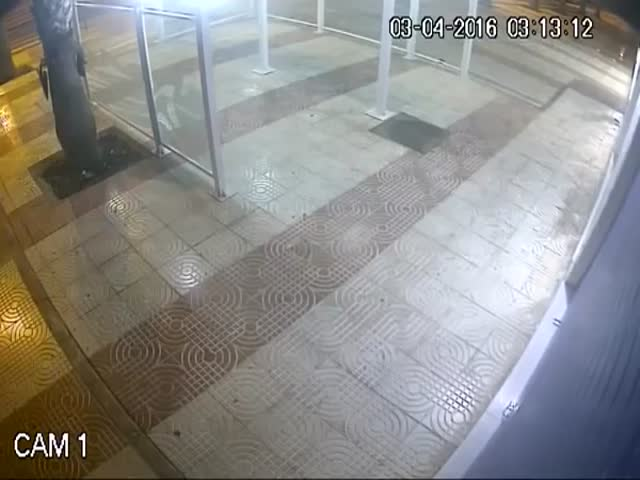 Burglar Gets What He Deserves Right Where He Deserves