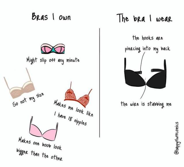 Bra Problems Are Something Beyond Men's Understanding