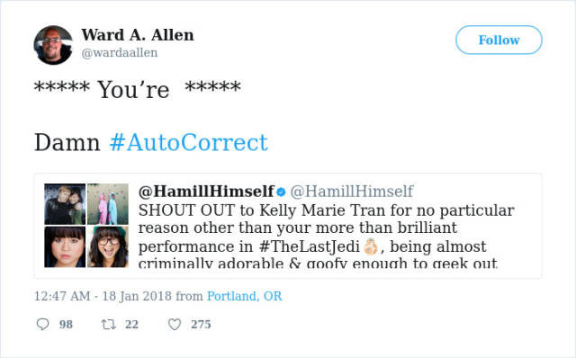 Grammar Nazis Shouldn't Attack Mark Hamill On Twitter