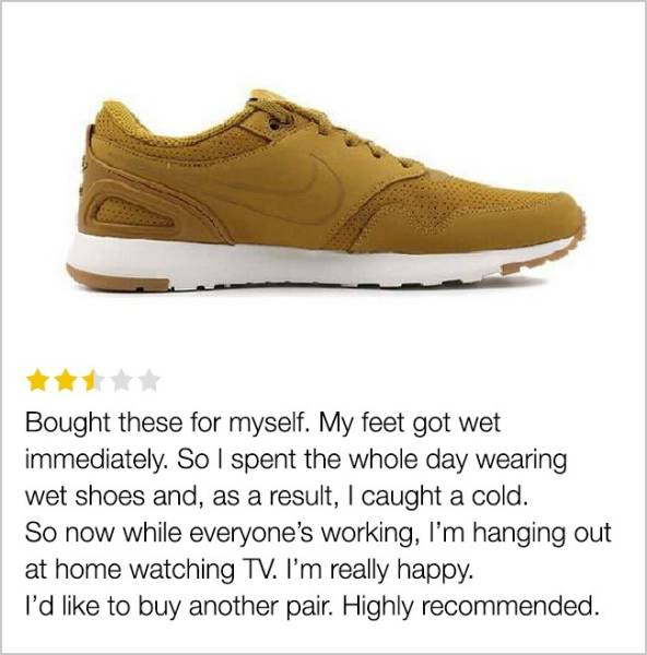 Some Customer Reviews On The Internet Are Better Than The Products Themselves