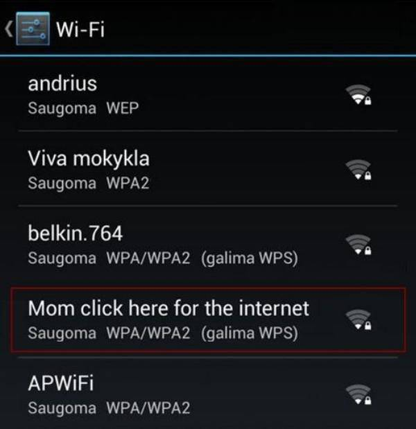 Even Wi-Fi Names Can Be Creative!
