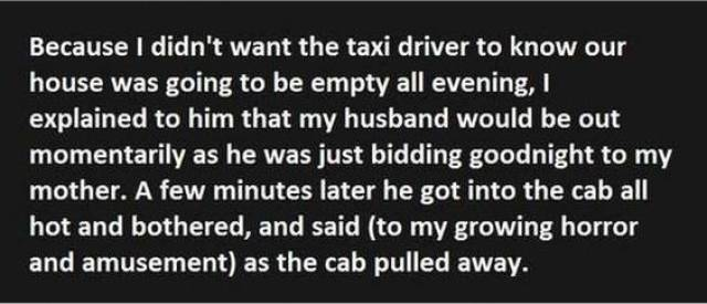 This Taxi Driver Will Think About Speaking To People Ever Again