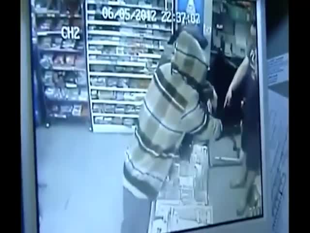 Robber Gets LITERALLY Spanked