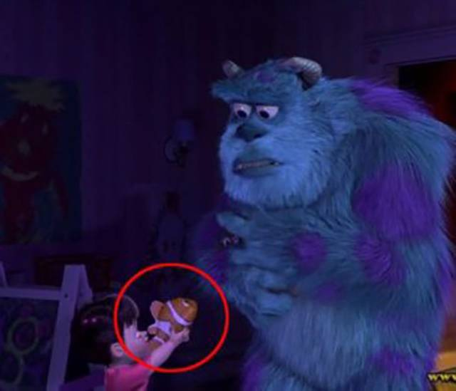 disney characters sometimes sneak into other disney movies