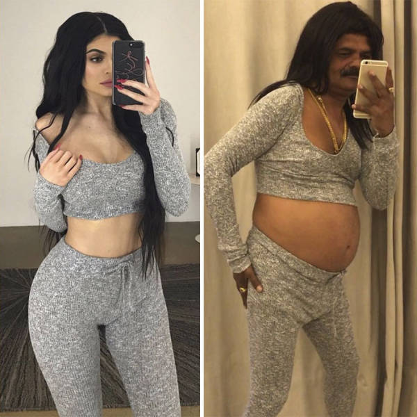 This Casual Indian Guy Just Kills It With Recreating Celebrity Pictures