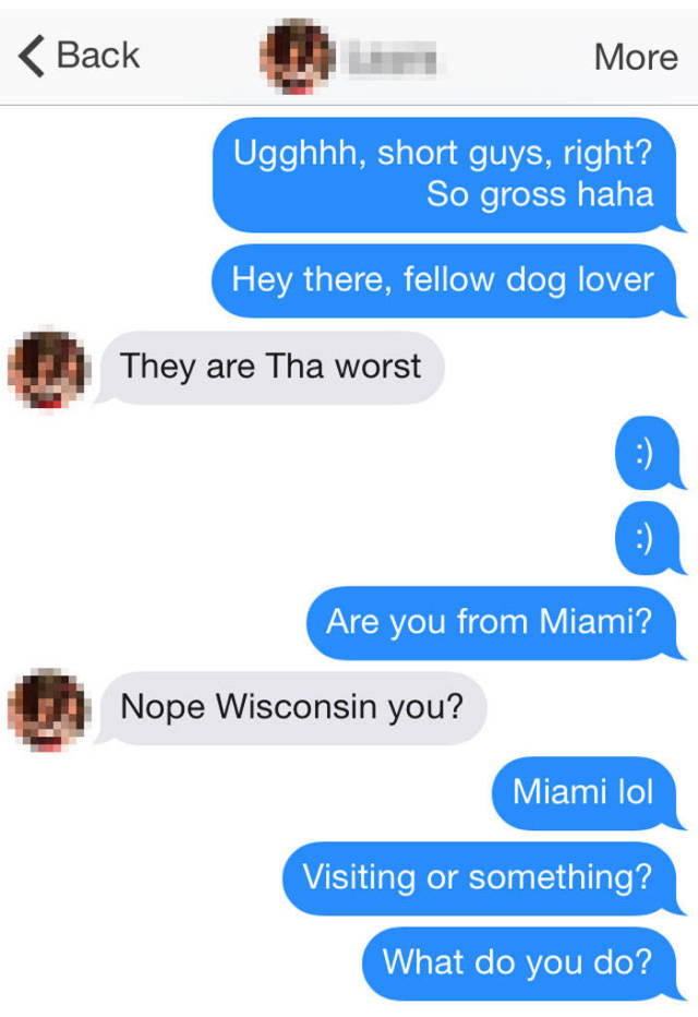 Girl Gets Perfectly Baited About Height Preferences On Tinder