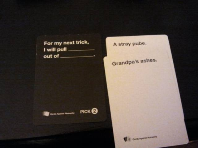 "Better Stay Away From Those ""Cards Against Humanity""!"