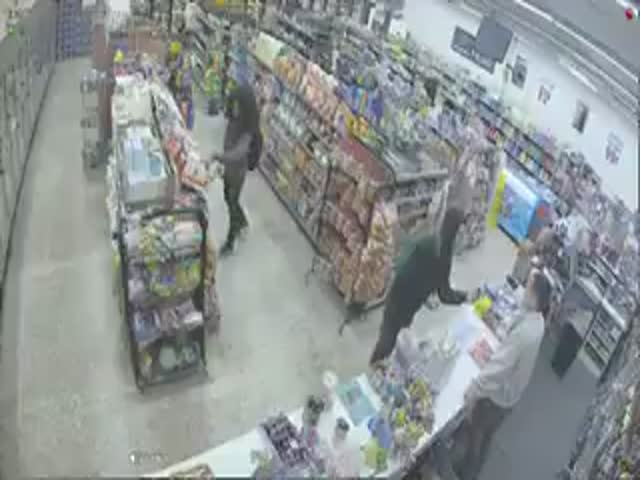 Store Robbers Didn't Expect Competition