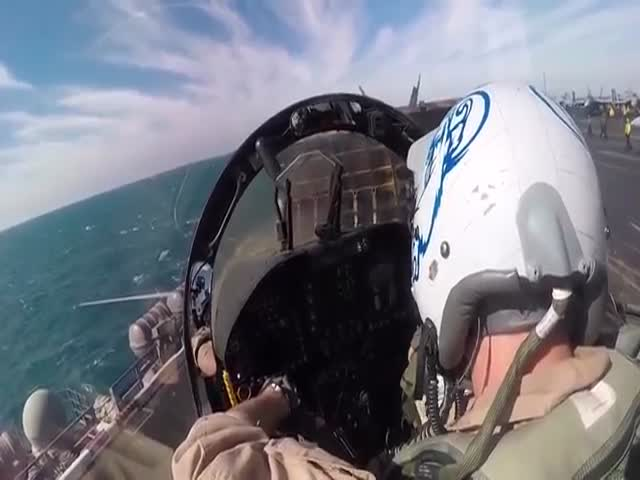 Watching A Jet Launch From A Cockpit Perspective Is A Breathtaking Experience