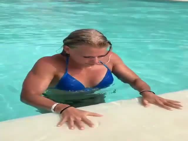 Can You Exit A Pool Better Than That?!