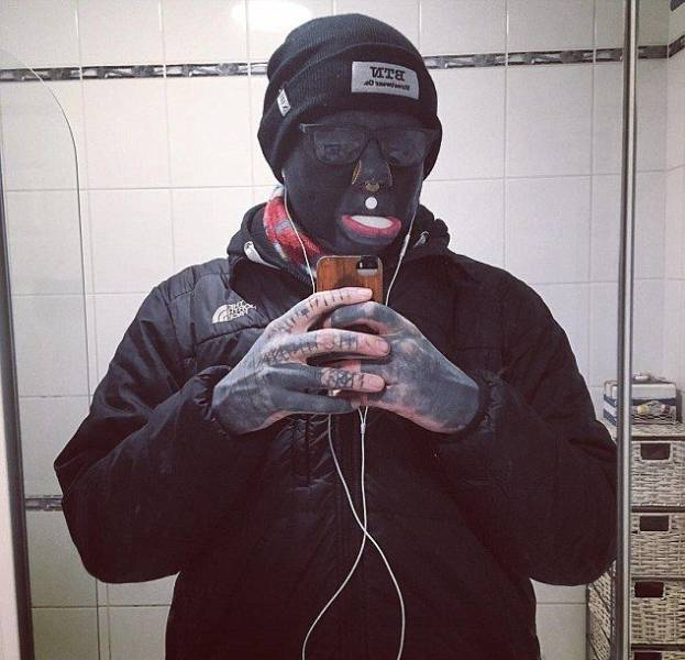 He Is One Big Walking Tattoo Now…