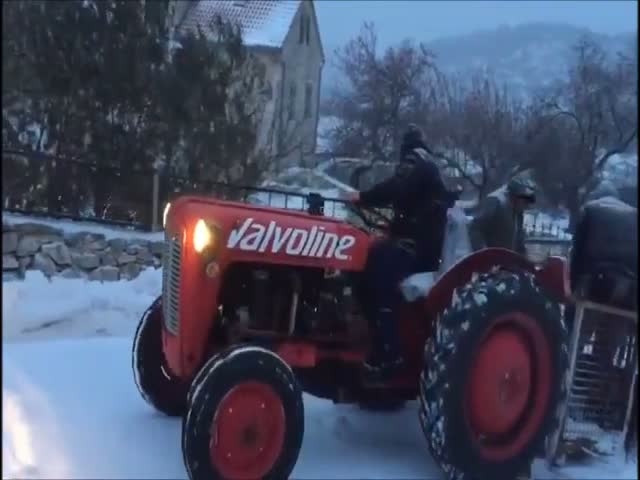 How Croatians Clean Their Snow
