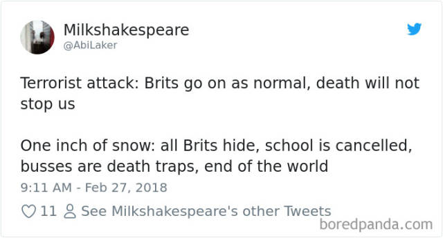 """UK Is Panicking Because Of """"Awful Snowstorms"""" And Reality Is Hilarious"""