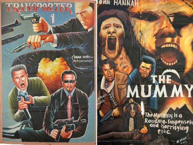In Africa Some Movie Posters Have To Be Painted By Hand…