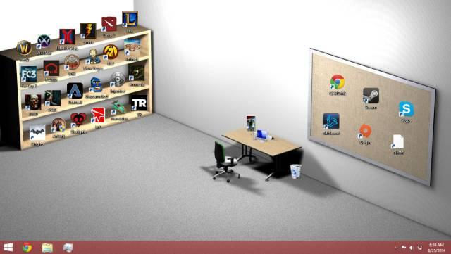 Sometimes People Arrange Their Desktops In Most Genius Ways