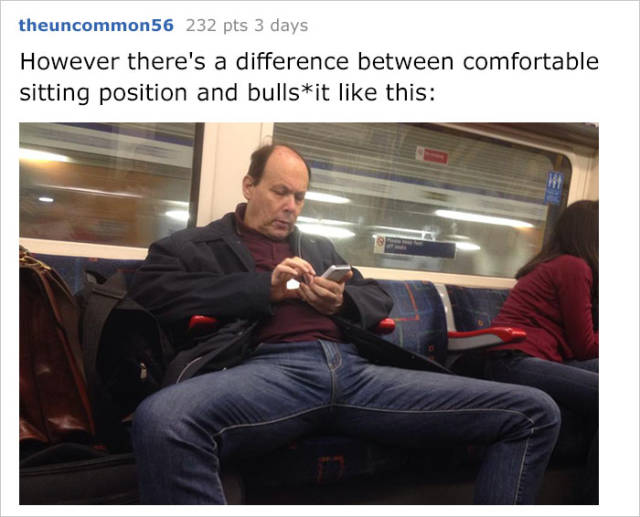 Woman Begins A War Against Manspreading And Gets A Quick Response