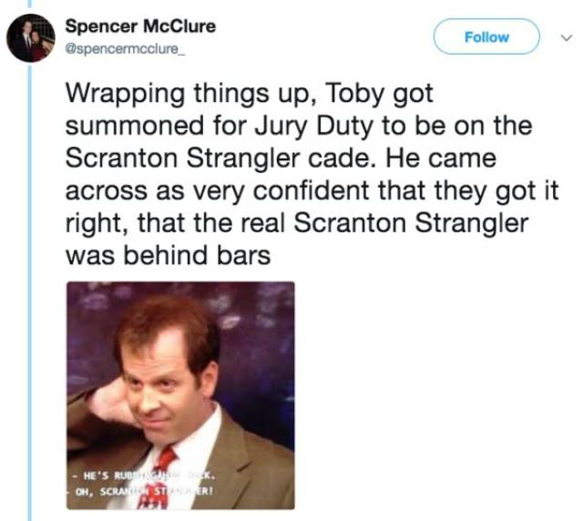 "There's A New Dark Conspiracy Theory About Toby From ""The Office"""