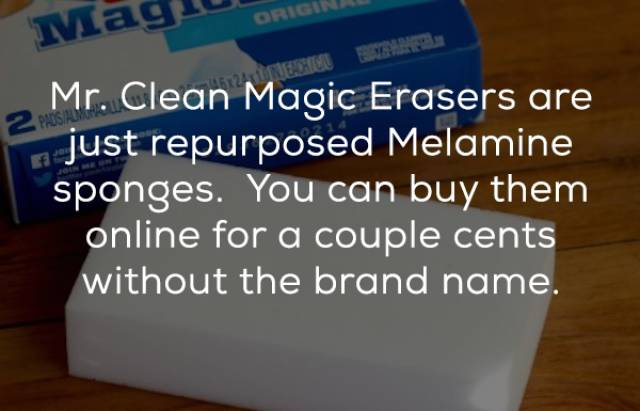 Many Common Products Have Their Little Secrets
