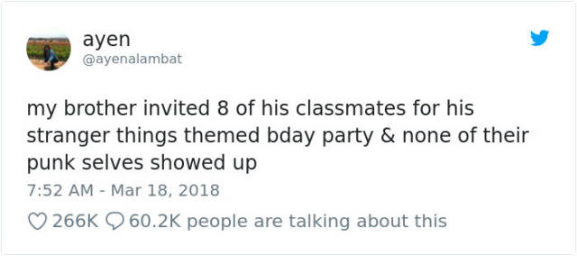 "This Boy's ""Stranger Things"" Birthday Party Was Ignored By His Friends But Not By Millie Bobby Brown"