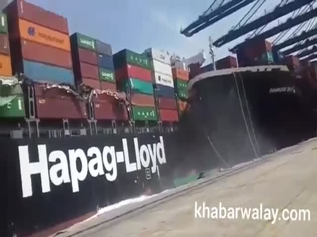 We'll Just Collide And Throw These Loaded Containers Into The Water, Who Cares