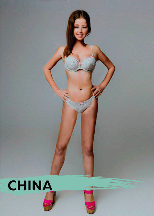 Perfect Woman's Body Is Different For Every Country