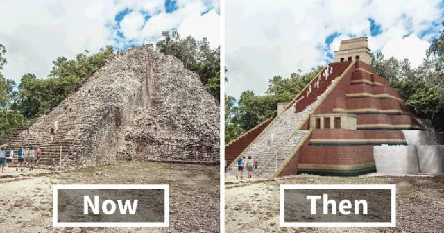 famous ancient architecture. Modern Technologies Give Us A Chance To See How Famous Ancient Buildings Looked In Their Prime (7 Gifs) - Izismile.com Architecture N