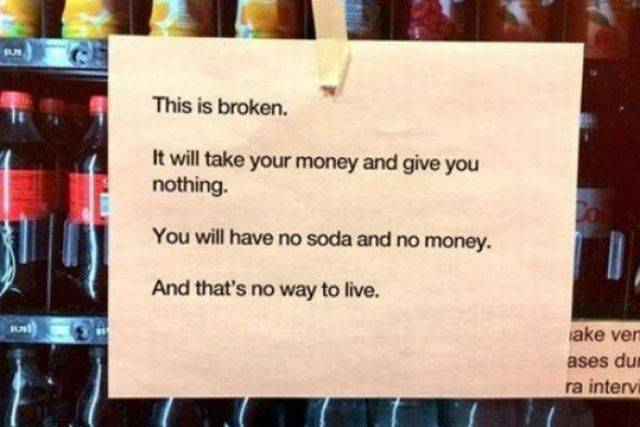 Vending Machines Just Never Do It Right…