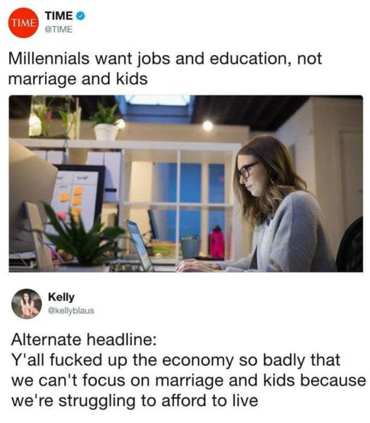 Millenials Will Be A Meme Topic For Millennia…