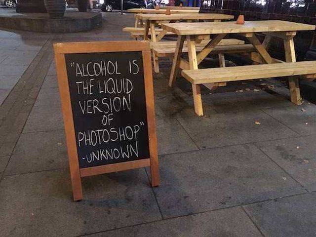 Hilarious Chalkboard Is The Perfect Advertisement