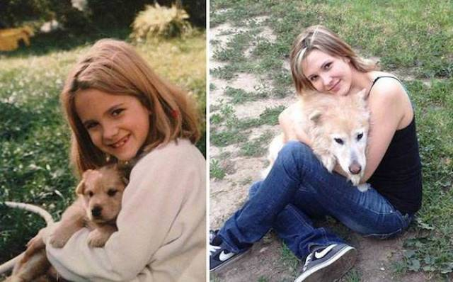 Adorable Dog Photos, Recreated Several Years Later