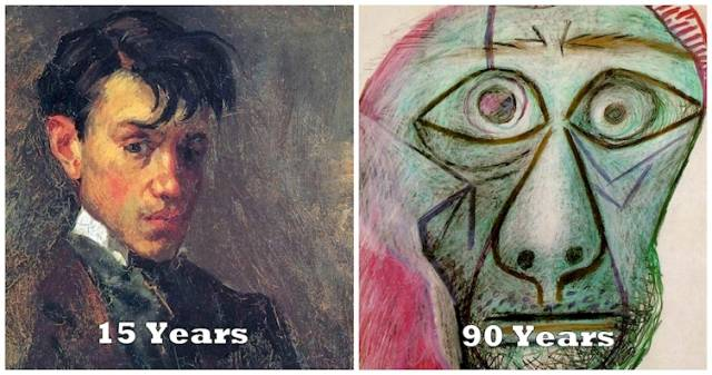 These Self Portraits Show The Evolution Of Picasso's Genius From Age