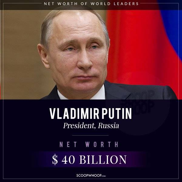 Approximate Wealth Of The World Most Powerful Leaders