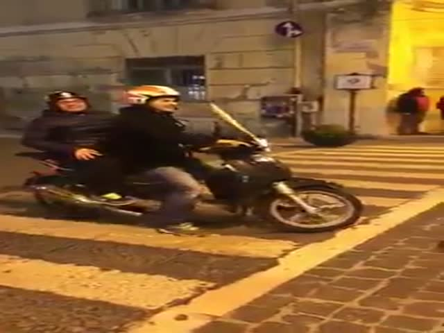 Drunk Biker Tests The Dogs Patience
