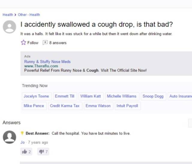 Wittiest Yahoo Answers For Those Silly Questions
