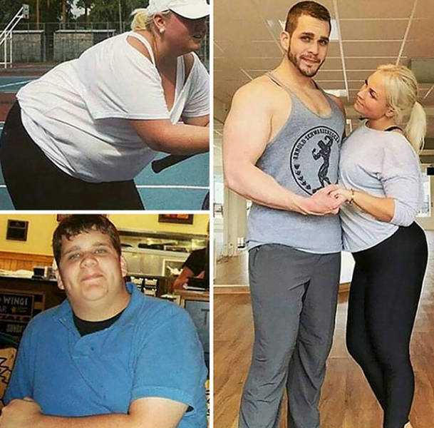 Before vs After Photos Of Couples Who Lost Weight Together
