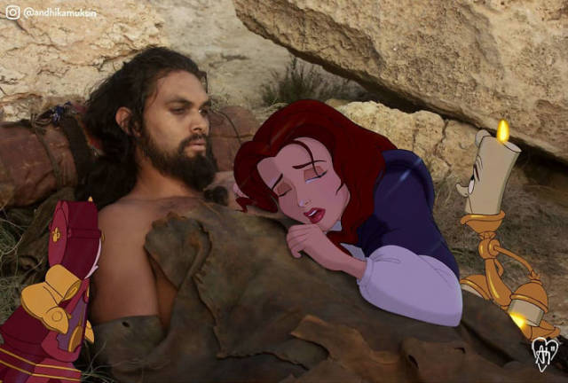 Artist Flawlessly Photoshops Disney Characters Into Celebrity Photos
