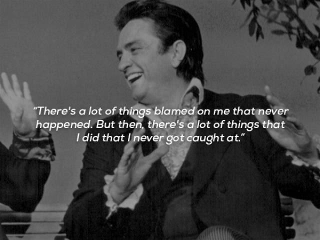 Johnny Cash Was Never Lost For Words