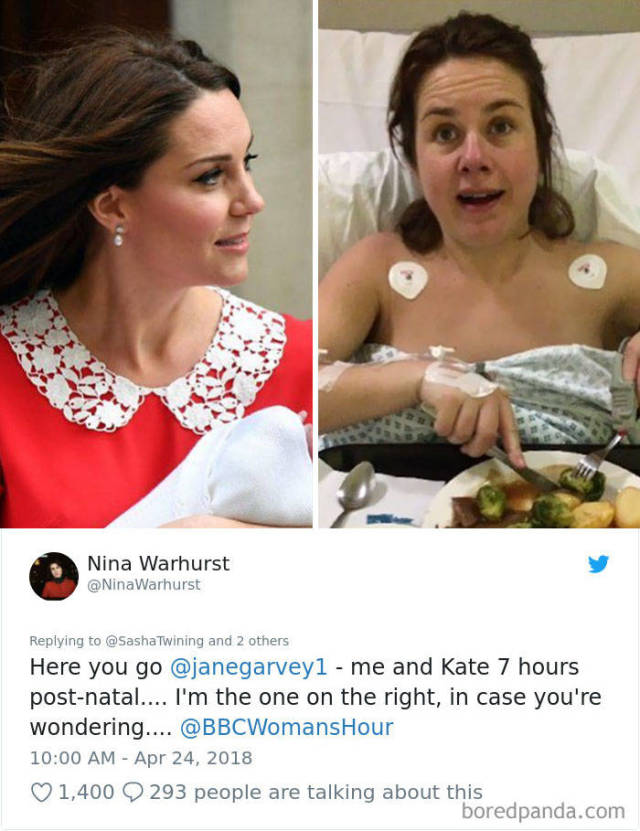 Women Show How Different They Looked Post-Birth In Comparison To Kate Middleton