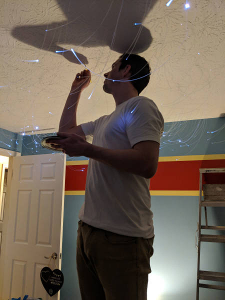 When Their Daughter Is Born, She's Going To Have A Fantastic Ceiling In Her Room!