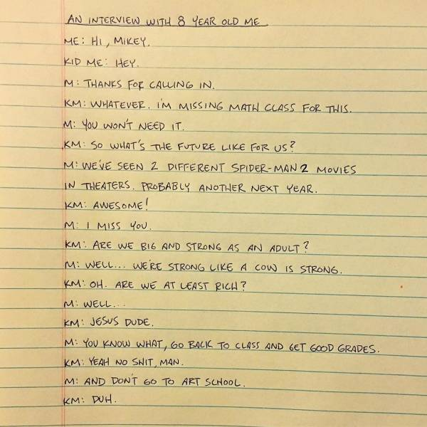 If His Writing Warmups Are This Good, How Good Can His Actual Writing Be?!