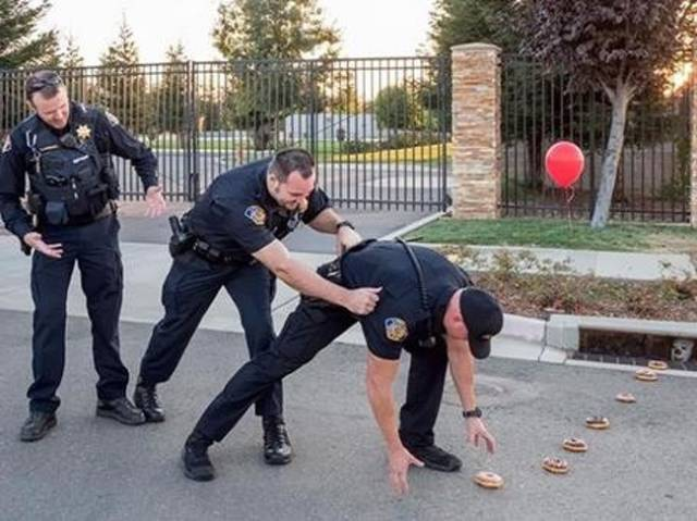 Police Gotta Have Fun To Not Go Mad