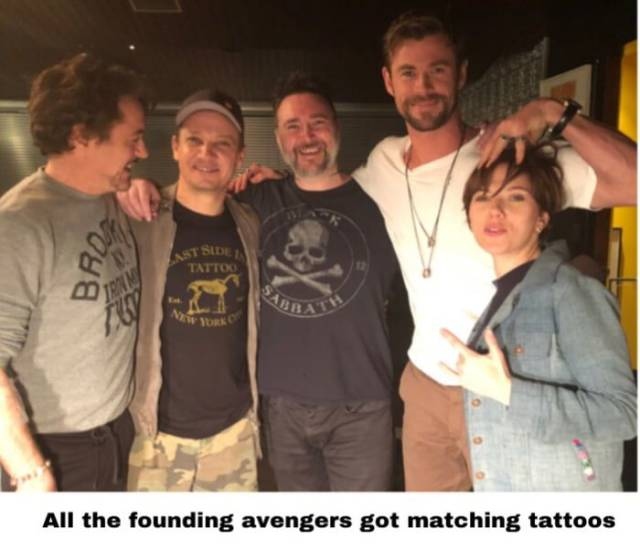 All The Original Avengers Now Have Matching Tattoos