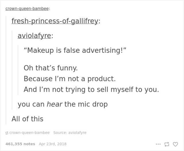 Some Feminist Tumblr Posts Are Actually Pretty Good