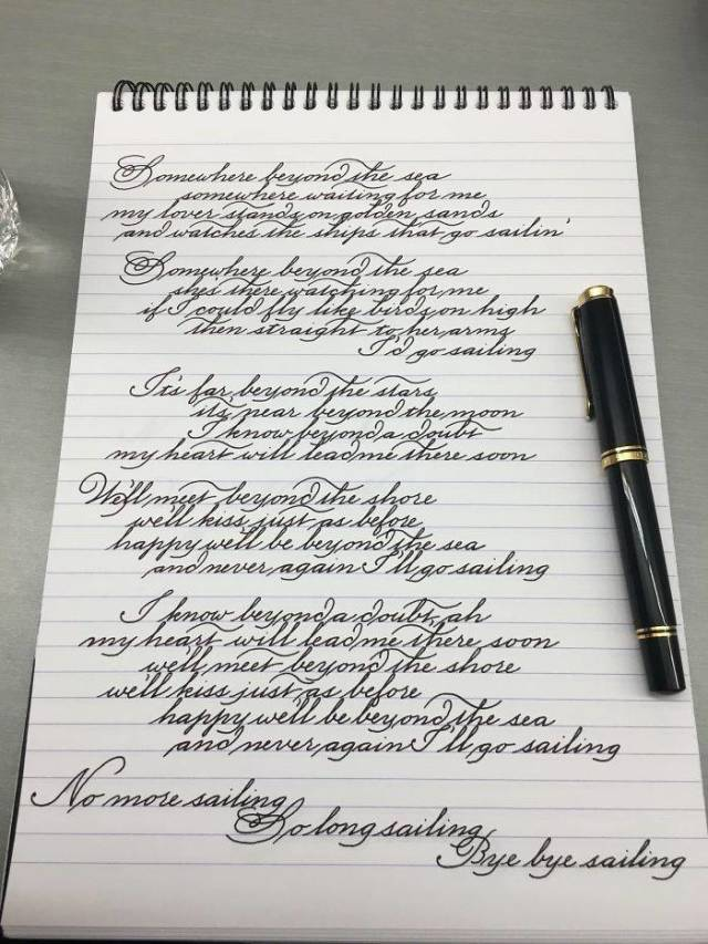 Some More Examples Of Visually Orgasmic Handwriting