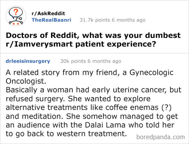 Never. Ever. Ask Reddit For Useful Information!