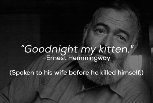 Writers Were Good With Words Right Until Their Final Moments
