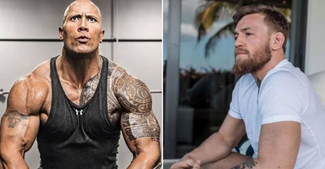 The Rock And Conor McGregor Exchange A Few Kind Words Online
