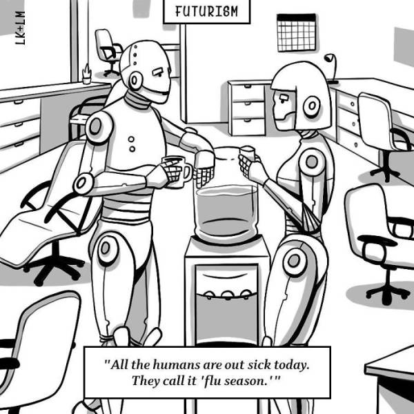 Futuristic Cartoons That Could Be Funny If They Weren't So Disturbing…