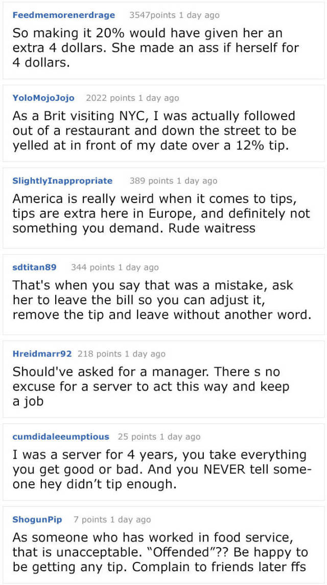 """Waitress Ruins Guy's Date Because Of """"Too Small Of A Tip"""""""